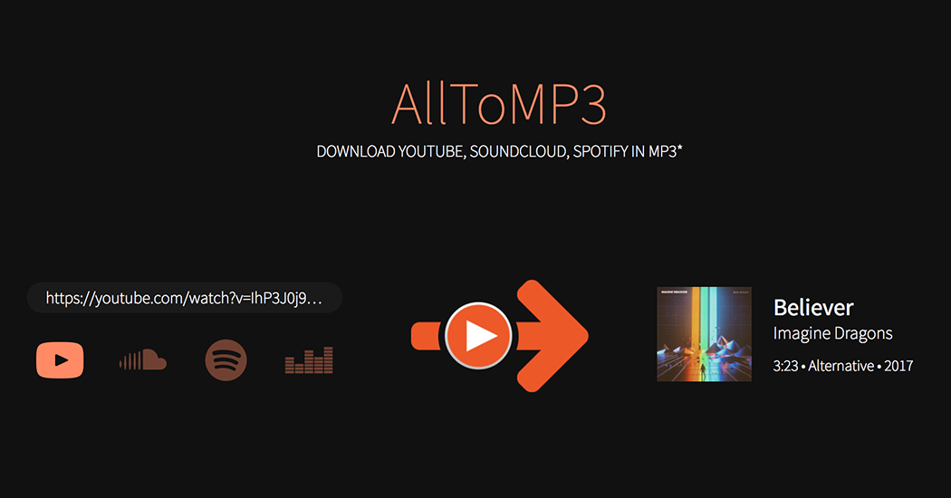 AllToMP3 - Download YouTube in MP3 with tags, cover and lyrics!